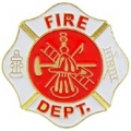 "PIN-FIRE DEPT LOGO, WHT (1"")"