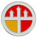 """PIN-ARMY, ENG. COMM. , ROUND (1"""")"""