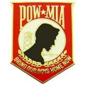 "PIN-POW*MIA, BRING OUR, RED (1"")"