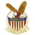"""PIN-DEST. SHIELD, EAGLE (1"""")"""