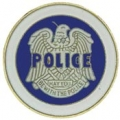 "PIN-BDG, SECRET POLICE (1"")"