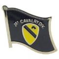 "PIN-ARMY, 001ST CAV. FLAG (1"")"