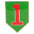 "ARMY 1ST INFANTRY DIV PIN (1"")"