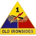 "ARMY 1ST ARMORED DIV OLD IRONSIDE PIN  (1"")"