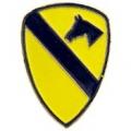 "PIN-ARMY, 001ST CAV. (1"")"