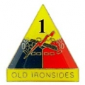 "ARMY 1ST ARMORED DIV. OLD IRONSIDE PIN (1"")"