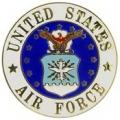 """PIN-USAF LOGO C (MED) (7/8"""")"""
