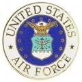 "PIN-USAF LOGO B (SML) (3/4"")"