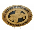 ARMY TRANSPORTATION WILLYS JEEP PLAQUE
