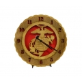Wood Marine Corps Clock
