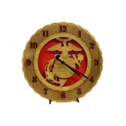 Wood Marine Corps Clock