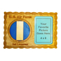 Air Force 0-1 Picture Frame Plaque