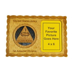ARMY 1ST ARMORED DIVISION PICTURE FRAME PLAQUE