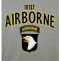 101ST AIRBORNE  VETERAN T-SHIRT-  AVAILABLE IN GREY OR OD GREEN