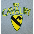 1ST CAVALRY  VETERAN T-SHIRT-  AVAILABLE IN GREY OR OD GREEN