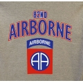 82ND AIRBORNE  VETERAN T-SHIRT-  AVAILABLE IN GREY, OD GREEN, OR BLACK