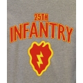 25TH INFANTRY DIVISION VETERAN T-SHIRT-  AVAILABLE IN GREY, OD GREEN, OR BLACK