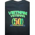 50th ANNIVERSARY VIETNAM VETERAN T-SHIRT ( PRINTED ON BACK SIDE)- AVAILABLE IN BLACK, GREY, OR OD GREEN SHIRT
