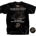 "MARINES ""MAKE A DIFFERENCE- RONALD REAGAN"" T-SHIRT"