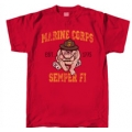 MARINE DEVIL DOG ' SEMPER FI' T-SHIRT