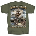 "MARINES "" FIRST IN , LAST OUT"" T-SHIRT"