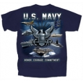 NAVY. HONOR. COURAGE. COMMITMENT T-SHIRT