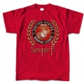 MARINE SEMPER FI  T-SHIRT WITH GOLD WREATH