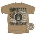 AIR FORCE REAL TREE CAMO AMERICAN FLAG T-SHIRT