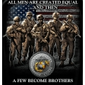 Marine Corps- A Few Become Brothers T-shirt