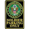 """SIGN-ARMY, PARKING ONLY (SMALL) (8""""X12"""")"""