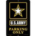 """SIGN-ARMY, PARKING ONLY, II (XLG) (12""""X18"""")"""