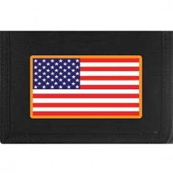 "WALLET-FLAG,USA,RECT. (HVY.DUTY NYLON/VELCRO) (3-1/2""X5"")"