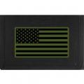 "WALLET-FLAG,USA,SUB,RECT. (HVY.DUTY NYLON/VELCRO) (3-1/2""X5"")"
