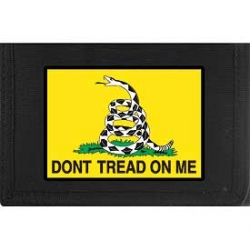 "WALLET-DONT TREAD,GADSDEN (HVY.DUTY NYLON/VELCRO) (3-1/2""X5"")"