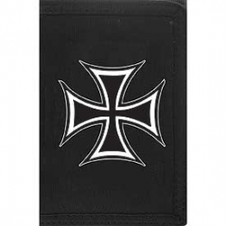 "WALLET-IRON CROSS (HVY.DUTY NYLON/VELCRO) (3-1/2""X5"")"