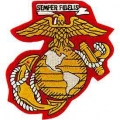 "PATCH-USMC EGA (04) (YLW/WHT) (4-1/8"") - WITH THE OPTION TO HAVE IT ADDED TO A HAT"